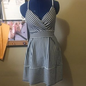 Blue and White Charlotte Russe Dress